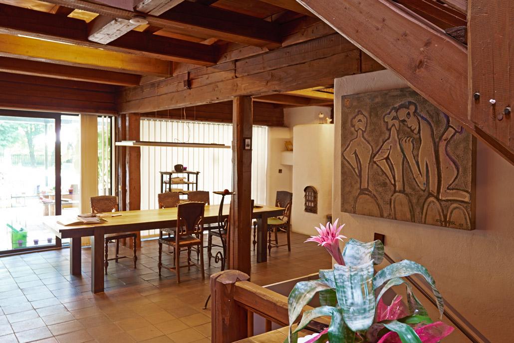 Foto des Essplatz Innenraum Referenzprojektes Haus Stampfer