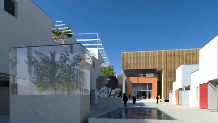 Visualisierung Platzgestaltung Habitat Zentrum