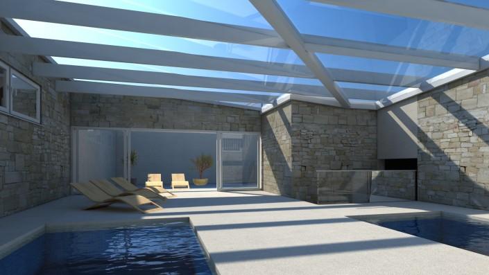 Visualisierung Habitat Piazza Innenraum