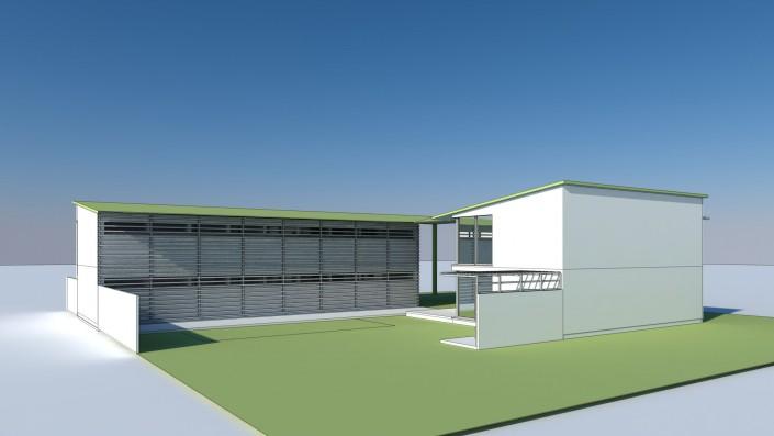 Visualisierung Zentralgebäude groß Innenhof