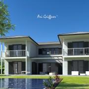 Atrium Two in klassischem Design mit Walmdach und symmetrischer Fensteranordnung