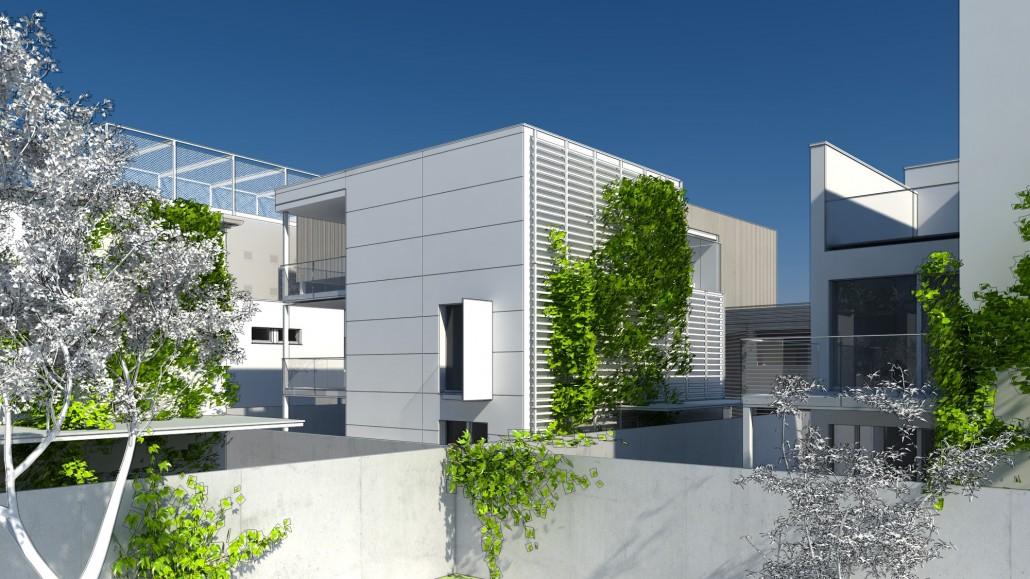 Visualisierung des Habitats Wohngebäude Zentralgebäude