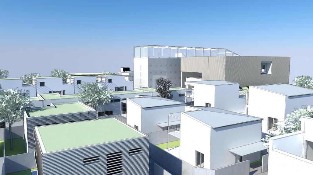 Schematische Visualisierung Einfamilienhaus Habitat Overview