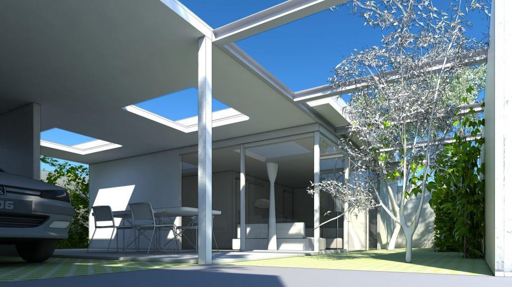 Schematische Visualisierung Microhabitat Garten